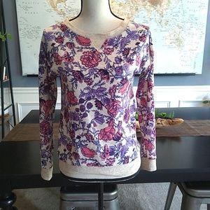 🌺 5/$20 Hippie Rose Floral Sweatshirt